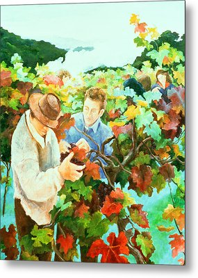 Grape Pickers Metal Print by Cristiana Angelini