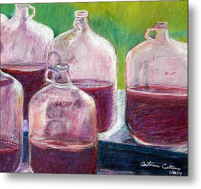 Grape Stomp Residuals Pastel Metal Print by Antonia Citrino
