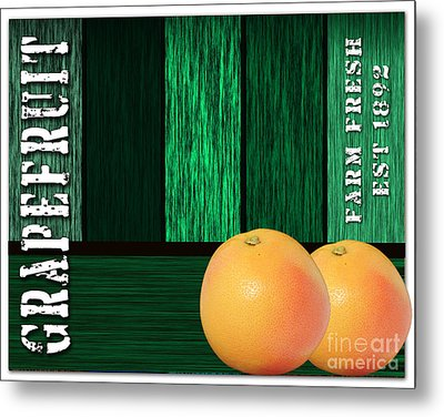 Grapefruit Sign Metal Print by Marvin Blaine