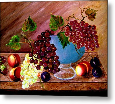 Grapefully Your's Metal Print by Fram Cama