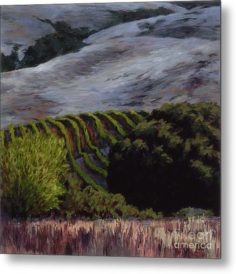 Grapes And Oaks Metal Print by Betsee  Talavera