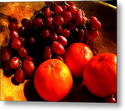 Grapes And Tangerines Metal Print by Greg Allore