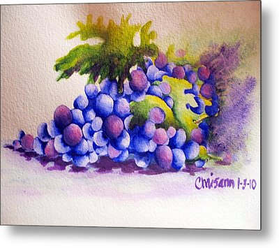 Grapes Metal Print by Chrisann Ellis