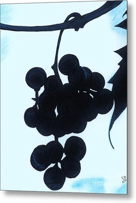 Metal Print featuring the drawing Grapes by D Hackett