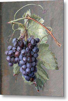 Grapes Metal Print by Enzie Shahmiri