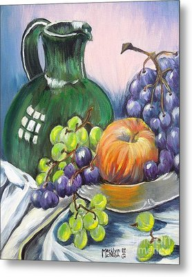Grapes Galore Metal Print by Marilyn  McNish