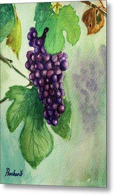 Grapes On The Vine Metal Print by Prashant Shah