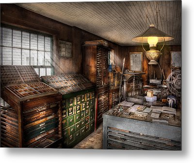 Graphic Artist - Upper And Lower Case  Metal Print by Mike Savad