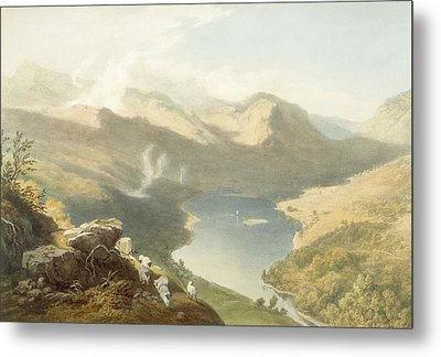 Grasmere From Langdale Fell, From The Metal Print by James Baker Pyne