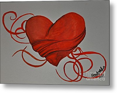 Grasping For A Heart Metal Print