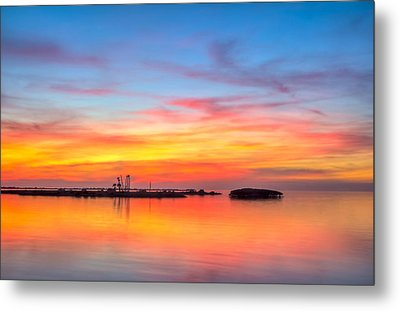 Grass Islands Of The Gulf Metal Print by Marvin Spates
