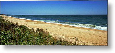 Grass On The Beach, Montauk Point Metal Print
