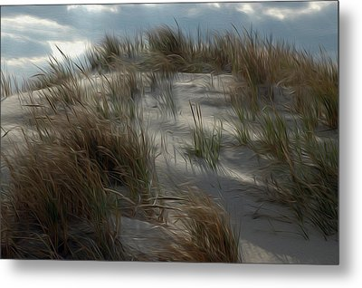 Metal Print featuring the digital art Grassy Dunes by Kelvin Booker