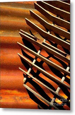 Grate Shadows Metal Print by Robert Riordan