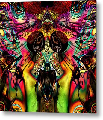 Grateful Desert Skull Metal Print