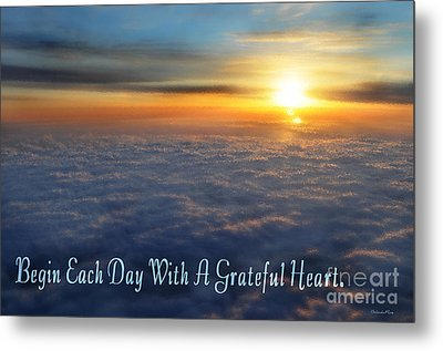 Grateful Heart Metal Print by Belinda Rose