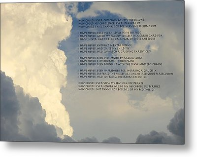 Grateful Skies Metal Print