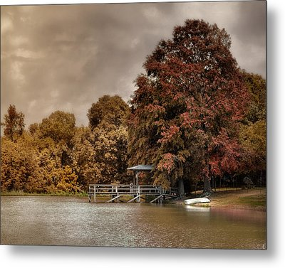Graves Pond In Autumn Metal Print by Jai Johnson