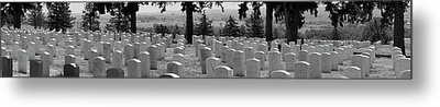 Gravestone At The Military Cemetery Metal Print by Panoramic Images