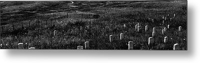 Gravestones On Last Stand Hill Metal Print by Panoramic Images