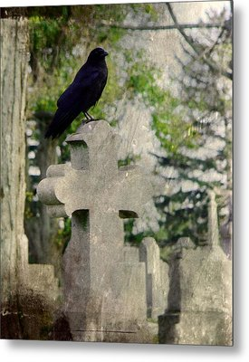 Graveyard Occupant Metal Print by Gothicrow Images