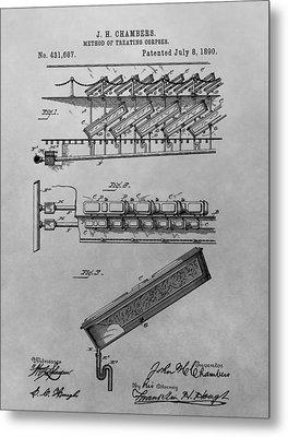 Graveyard Patent Metal Print