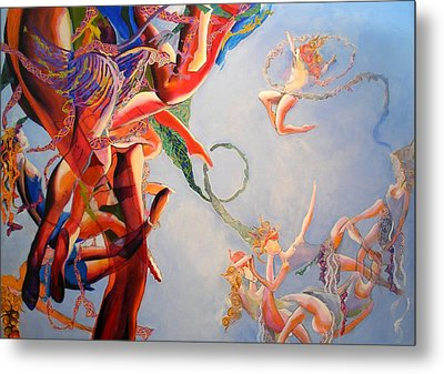 Metal Print featuring the painting Gravity by Georg Douglas