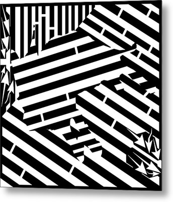 Gravity Induced Cat Nap Maze Metal Print by Yonatan Frimer Maze Artist