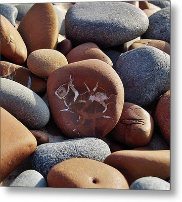 Metal Print featuring the photograph Gray And Brown Stones by Kathi Mirto