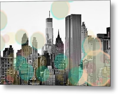 Gray City Beams Metal Print