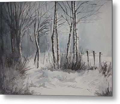 Gray Forest Metal Print