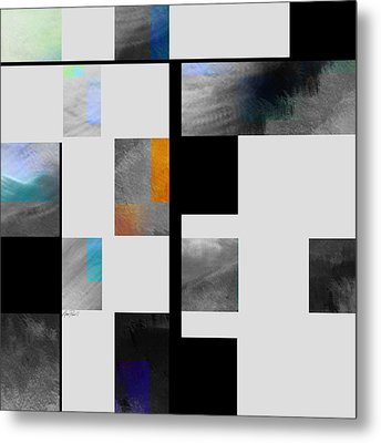 Gray Series Four Abstract Art Metal Print by Ann Powell