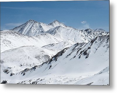 Grays And Torreys From Loveland Ski Area Metal Print by Aaron Spong