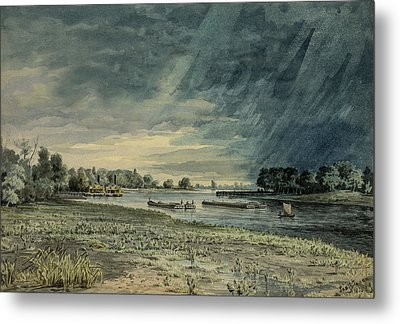 Grays Ferry Circa 1858 Metal Print by Aged Pixel