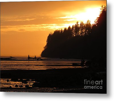 Grays Harbor Sunset I Metal Print by Gayle Swigart