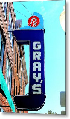 Gray's Rx Metal Print by Anthony Jones