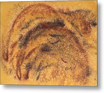 Grazing Bears Metal Print
