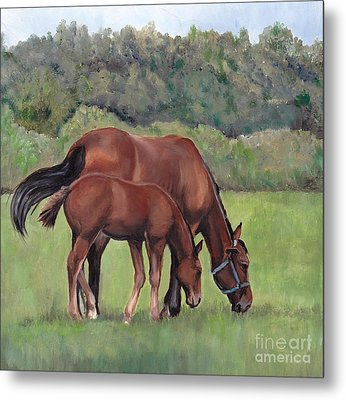 Grazing Metal Print by Charlotte Yealey