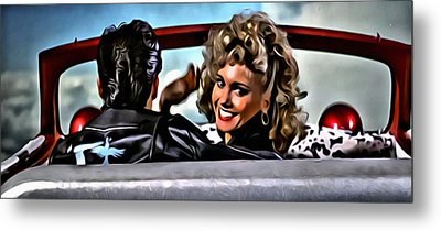 Grease Metal Print