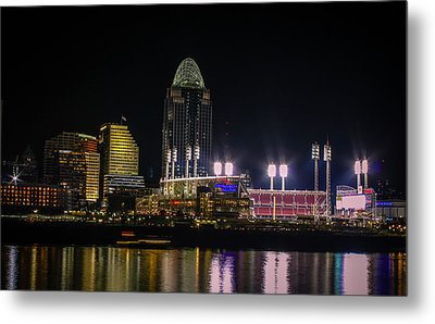 Great American Ball Park Metal Print by Cathy Donohoue