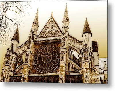Great Architecture Westminster Abbey Metal Print by MaryJane Armstrong