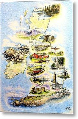 Great Britain And Ireland Metal Print