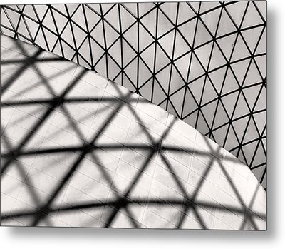 Great Court Abstract Metal Print by Rona Black