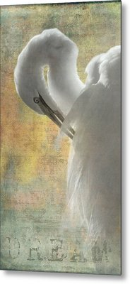 Great Egret Dream Metal Print by Angie Vogel