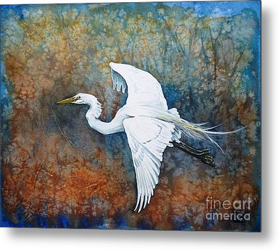 Great Egret  Metal Print by Zaira Dzhaubaeva