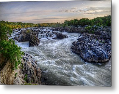 Metal Print featuring the photograph Great Falls  by Michael Donahue