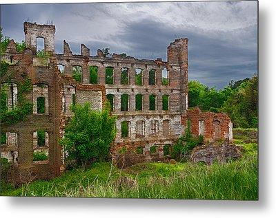 Great Falls Mill Ruins Metal Print by Priscilla Burgers