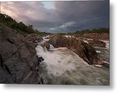 Metal Print featuring the photograph Great Falls Rugged Beauty by Bernard Chen