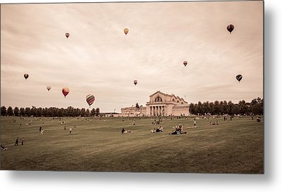 Great Forest Park Balloon Race Metal Print