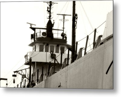 Great Lakes Freighter Metal Print by Michael Allen